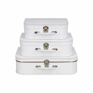 Hobby knutsel koffertje wit