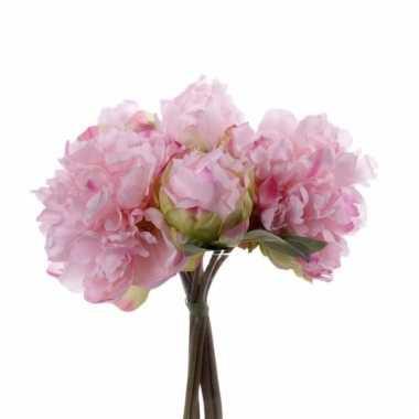Hobby kunst pioenrozen boeket roze