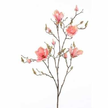 Hobby kunstbloem magnolia tak zalmroze