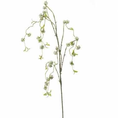 Hobby kunstbloem witte wilgen bloesemtak