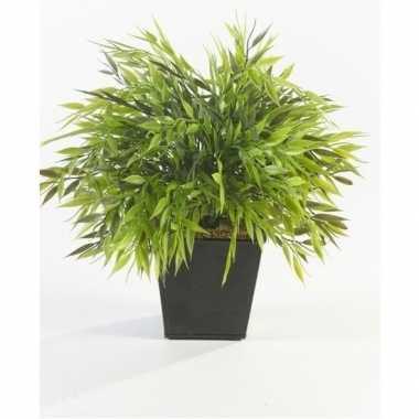 Hobby kunstplant bamboe mix groen pot