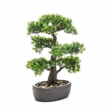 Hobby kunstplant bonsai boom bruine pot