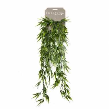 Hobby kunstplant groene bamboe hangplant/tak