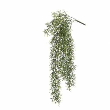 Hobby kunstplant groene gras hangplant/tak