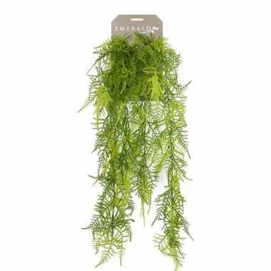 Hobby kunstplant groene kantvaren hangplant/tak