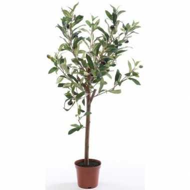 Hobby kunstplant groene olijfboom betonlook pot