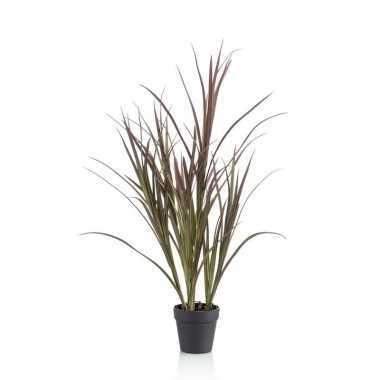 Hobby kunstplant hoog gras groen zwarte ronde pot