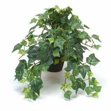 Hobby kunstplant klimop groen zwarte pot