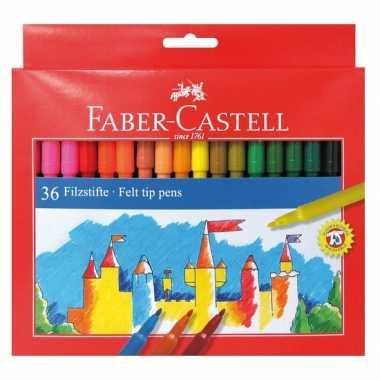 Hobby kwaliteit viltstiften gekleurd stuks