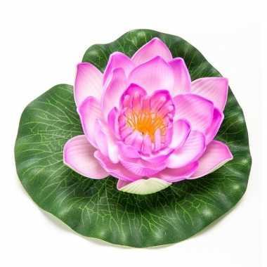Hobby lila paarse lotus/waterlelie kunstbloem