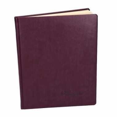 Hobby luxe aubergine receptieboek
