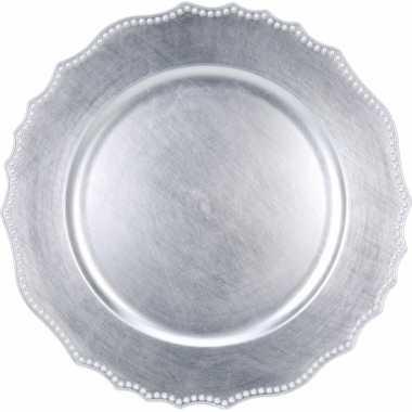 Hobby luxe onderzet bord zilver cm
