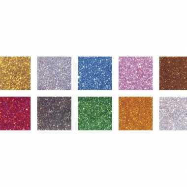 Hobby mozaiek steentjes gram glitter kleuren