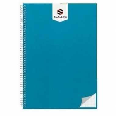 Hobby notitieblok/lijntjes schrift a blauw