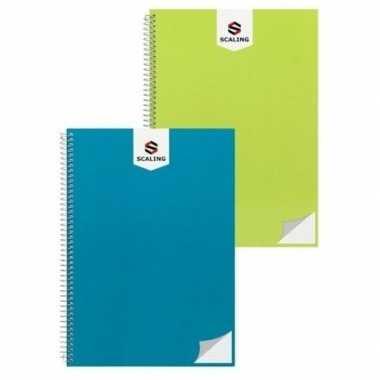 Hobby notitieblok/lijntjes schrift a groen
