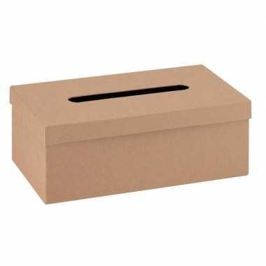 Hobby onbewerkte kartonnen tissuebox