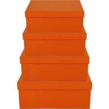 Hobby oranje cadeaudoosje rechthoekig