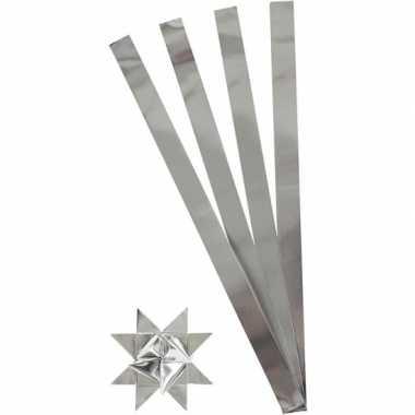 Hobby papieren stroken zilver