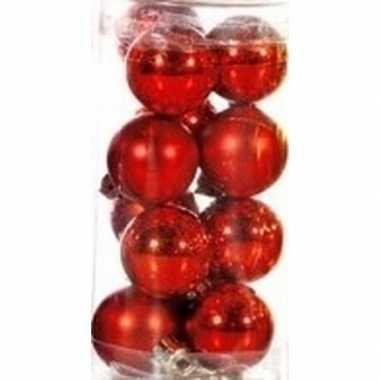 Hobby plastic mini kerstballen rood stuks