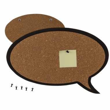 Hobby prikbord vorm een tekst wolkje