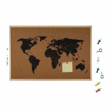 Hobby prikbord wereldkaart
