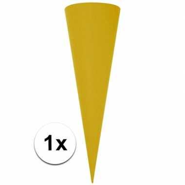 Hobby puntvormige knutsel schoolzak geel cm