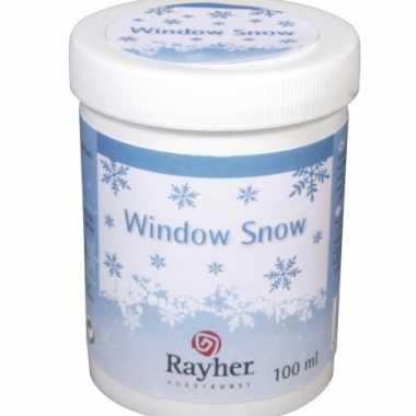 Hobby raamdecoratie sneeuw