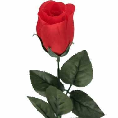 Hobby rode rosa roos kunstbloem