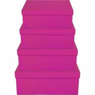 Hobby roze cadeaudoosje rechthoekig