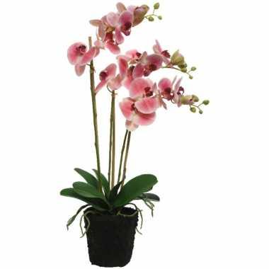 Hobby roze orchidee kunstplanten/planten pot