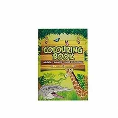 Hobby safari dieren thema a kleurboek/tekenboek paginas