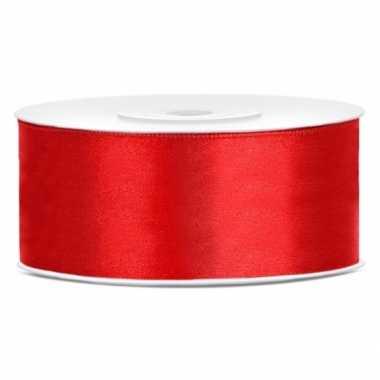 Hobby satijn sierlint rood mm