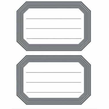 Hobby schoolboek etiketten wit/grijs