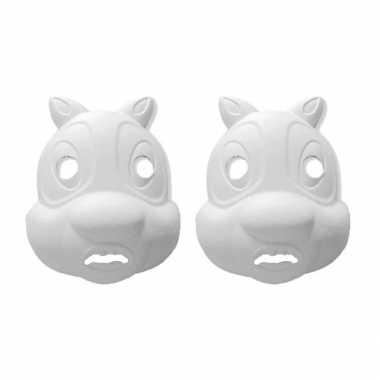 Hobby set stuks papier mache knutsel maskers eekhoorn