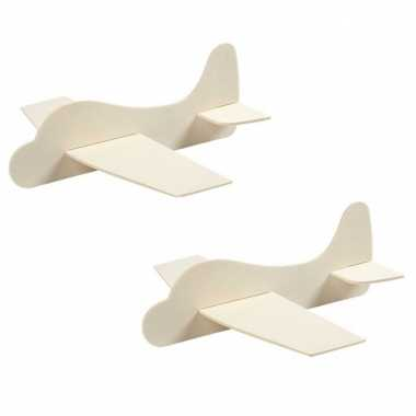 Hobby set stuks vliegtuigen hout . . bouwpakket