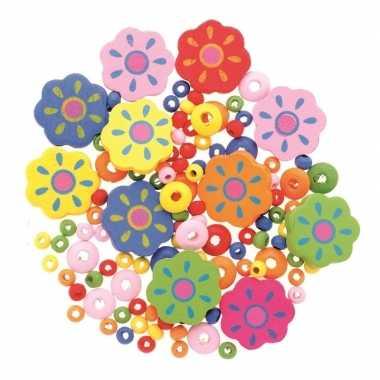 Hobby sieraden maken kralenmix set bloem