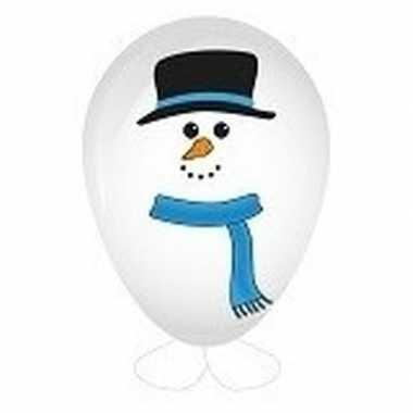 Hobby sneeuwpop ballon versieren