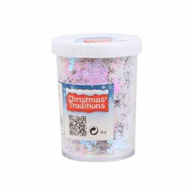 Hobby sneeuwvlokken confetti parelmoer