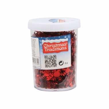 Hobby sneeuwvlokken confetti rood