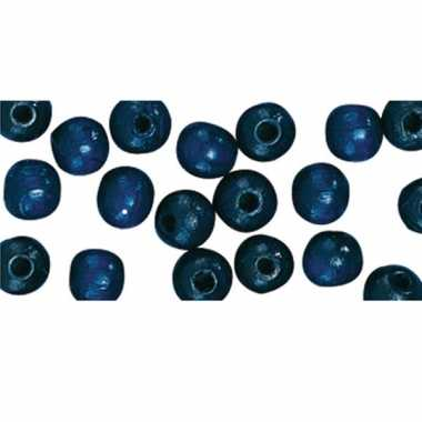Hobby stuks donkerblauwe kralen mm