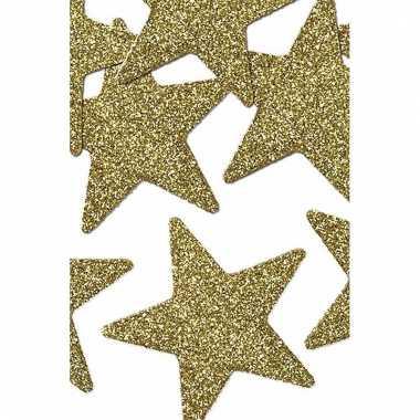 Hobby stuks gouden decoratie sterren