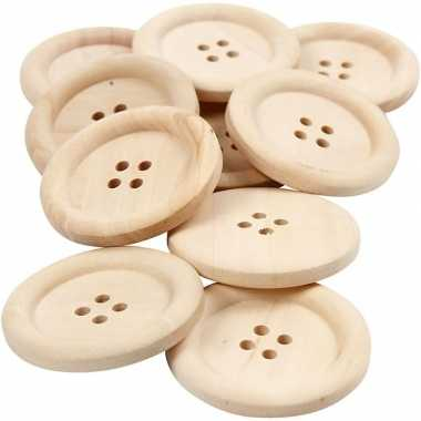 Hobby stuks houten knopen mm