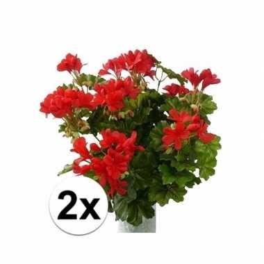 Hobby stuks kunst oostenrijkse geraniums planten rood