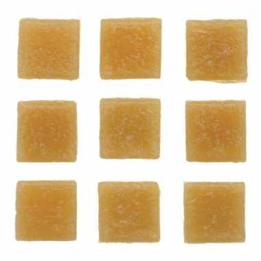 Hobby stuks vierkante mozaieksteentjes beige