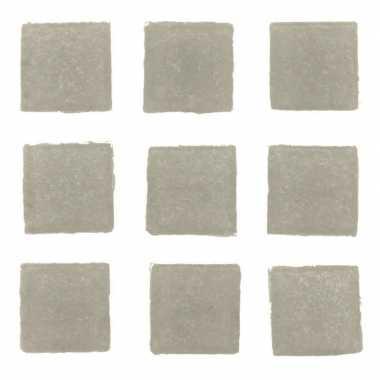 Hobby stuks vierkante mozaieksteentjes grijs