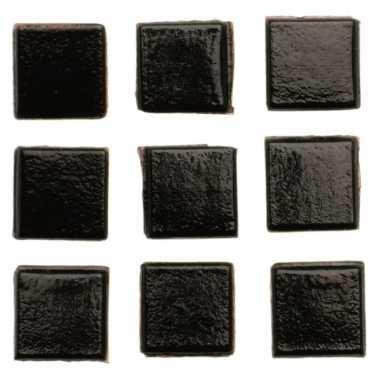 Hobby stuks vierkante mozaieksteentjes zwart