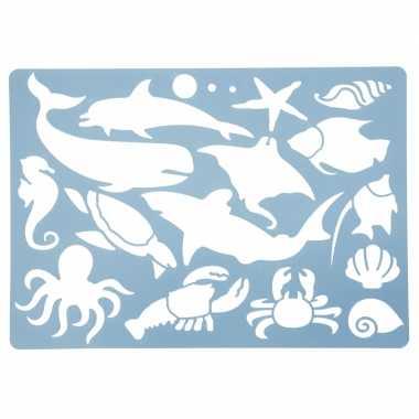 Hobby teken sjabloon oceaan dieren
