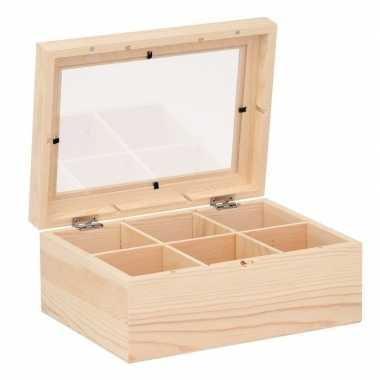 Hobby theedoos versieren houten kistje