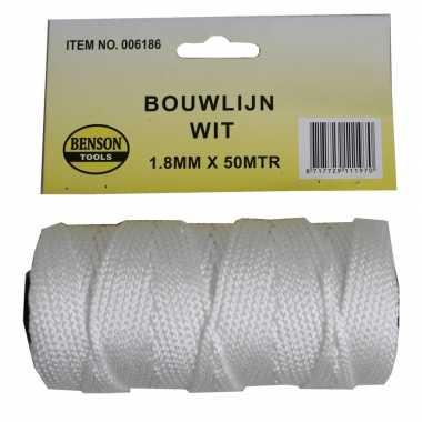 Hobby touw bouwlijn wit meter , mm