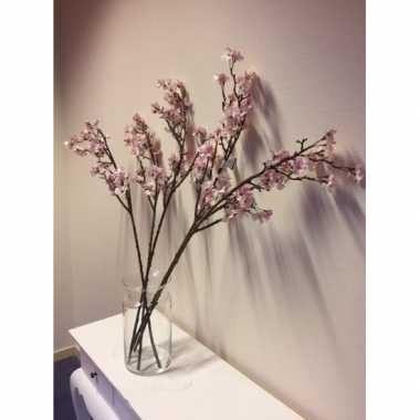Takken In Vaas.Hobby Vaas Roze Appelbloesem Kunstbloemen Takken